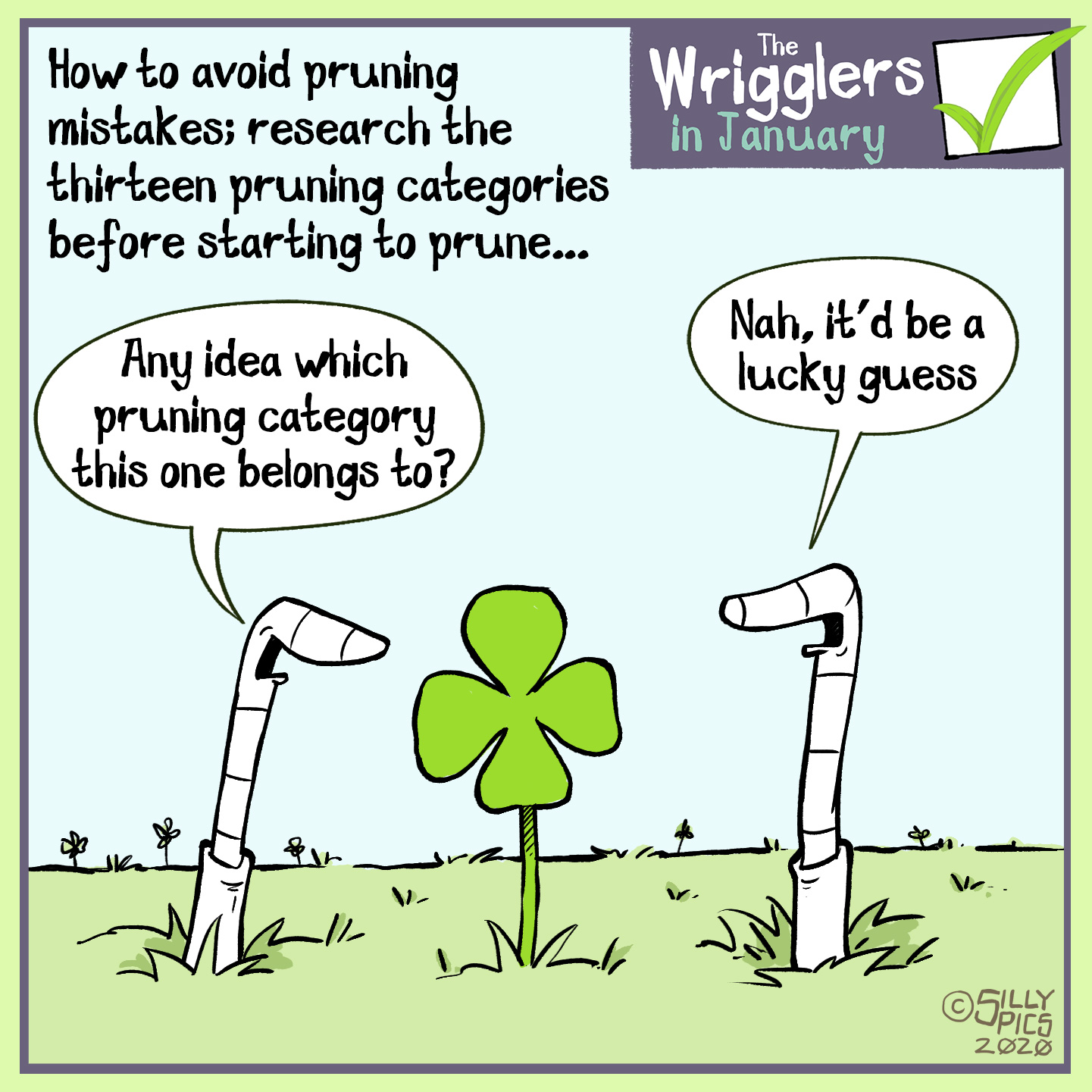 Cartoon about pruning categories – don't leave it to luck do your research