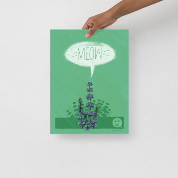Meow print 30*40cm digital print